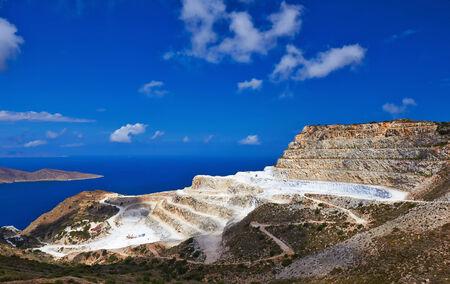 quarries: Marble quarry near village Mochlos, Crete, Greece