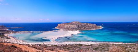 Panoramic view of Balos bay, Crete, Greece. photo