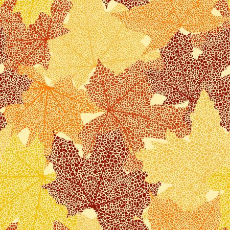 withering: Dry autumn maple leaves seamless background illustration.