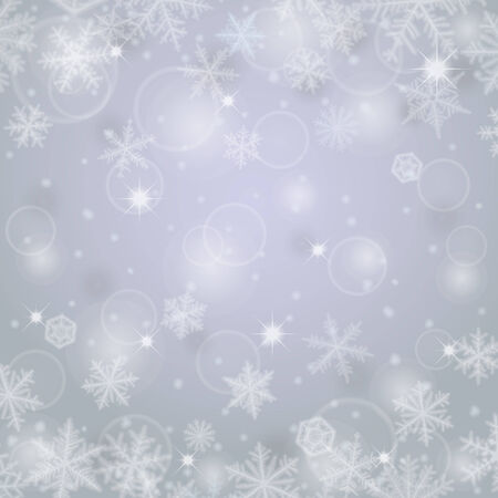 ligh: Abstract ligh christmas background with snowflakes. Illustration