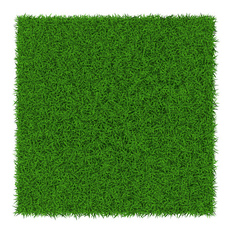 Vierkante groene gras banners, vector illustratie.
