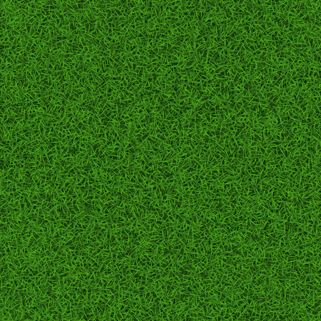 Green soccer grass field seamless background texture, vector illustration.