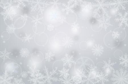 horizontal: Abstract horizontal christmas background with snowflakes. Illustration