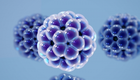 Atomic structure of fullerene molecule - one of the carbon  Banco de Imagens