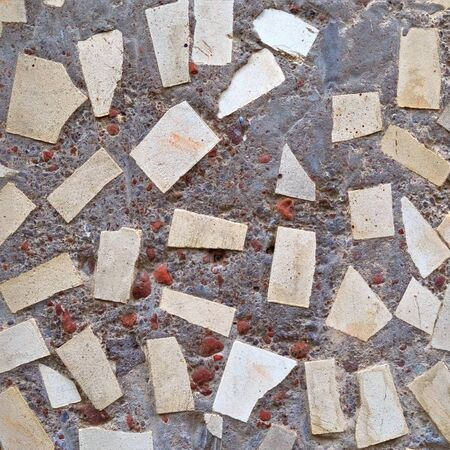 Concrete wall background or texture with ceramic pieces Stock Photo - 15440979