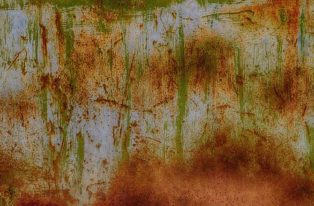 Rusty painted metal. May be used as background or texture Stock Photo - 15449214