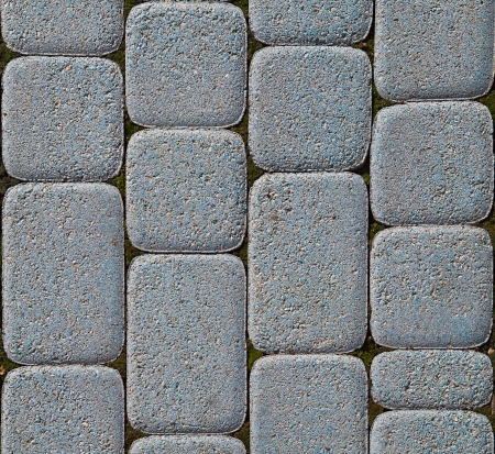 Blue rounded corners block paving