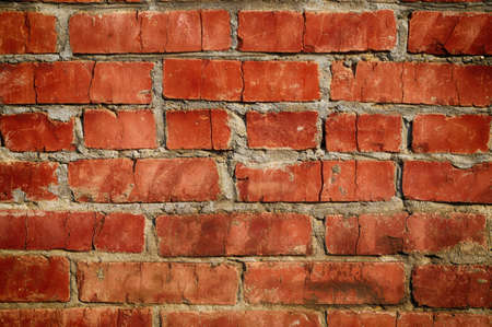 Aged red brick wall pattern  May be used as background or texture Stock Photo - 15739237