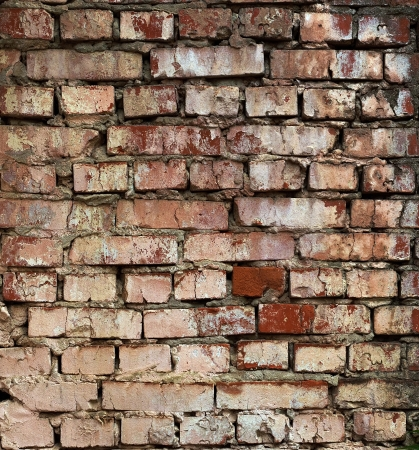 Aged red brick wall pattern  May be used as background or texture
