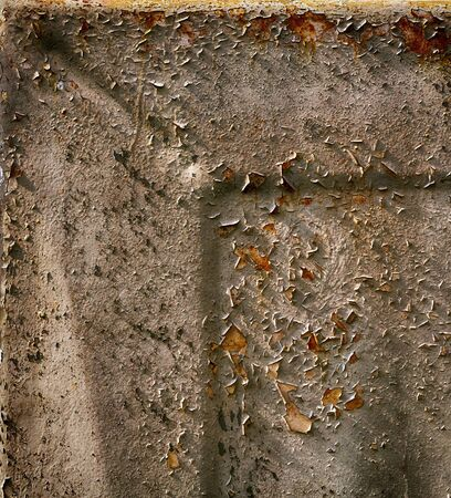 Old metal  surface covered with peeling layers of paint Stock Photo - 15819177