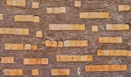 Concrete wall background or texture with ceramic pieces Stock Photo - 15819123