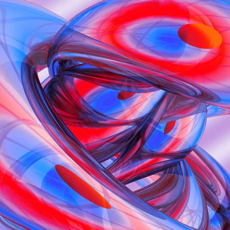 color 3d: Abstract colorful festive background made of rounded shining forms  Mainly red and blue