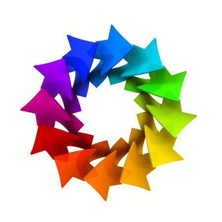 Logo design colorful circle of arrows