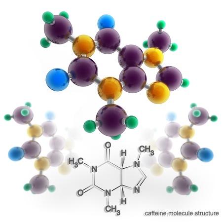 caffeine: Molecule structure of caffeine