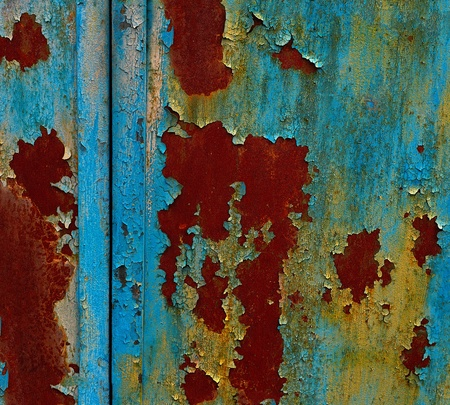 Grunge painted metal texture or background Stock Photo