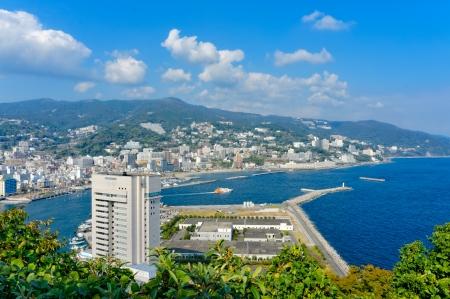 View of Atami and Sagami Bay, Shizuoka, Japan Foto de archivo