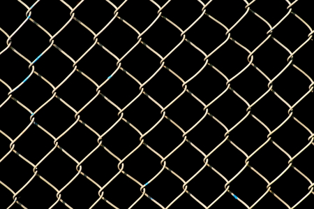 Wire netting on black background