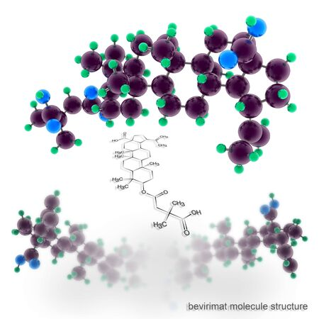 bevirimat molecule structure. Three dimensional model render