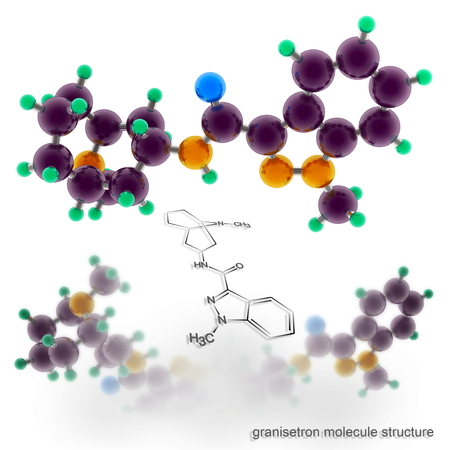 agonist: granisetron molecule structure. Three dimensional model render Stock Photo