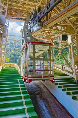 Ropeway (cableway) in Atami city, Shizuoka prefecture, Japan Editorial