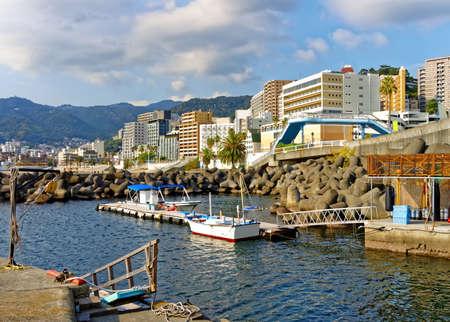 Summer view of Atami city, Shizuoka, Japan