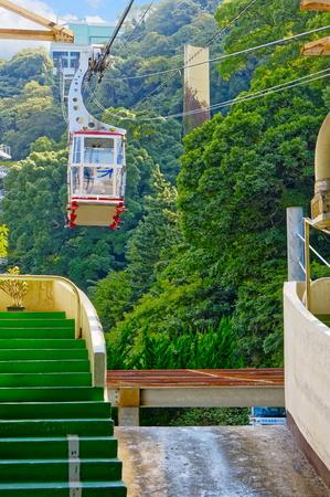 ATAMI, JAPAN - OCTOBER 27, 2012: Ropeway (cableway) in Atami city, Shizuoka prefecture, Japan