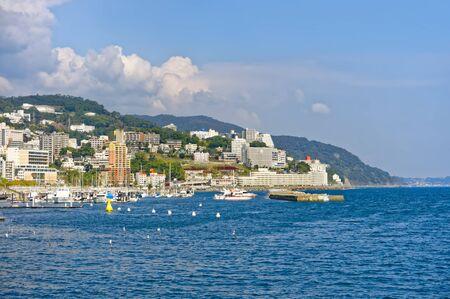 View of Atami and Sagami Bay, Shizuoka, Japan Editorial
