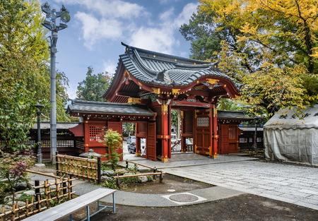 CHICHIBU, JAPAN - OCTOBER 26 2012: Entrance gate to Chichibu Shrine, Chichibu, Saitama prefecture, Japan. Chichibu is the one of the oldest Shrine in Japan and has over 1000 years of history