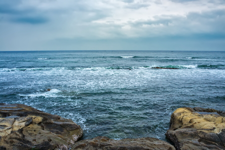 foreign national: Gloomy day at Chiba coast, Chiba Prefecture Japan Stock Photo