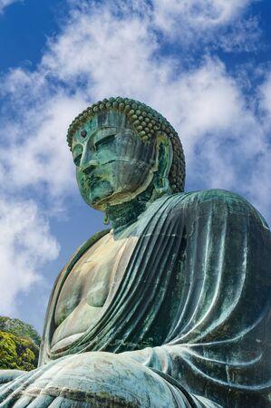 Great Buddha  statue on the grounds of Kotokuin Temple in Kamakura, Japan