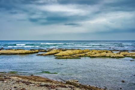 Gloomy day at Chiba coast, Chiba Prefecture Japan Stock Photo