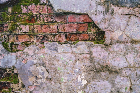 Grunge ruined brick wall background or texture Stock Photo