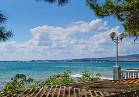 Beautiful seascape overlooking sea bay on a sunny day Banco de Imagens