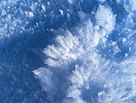 Winter crystal snow close-up Stock Photo