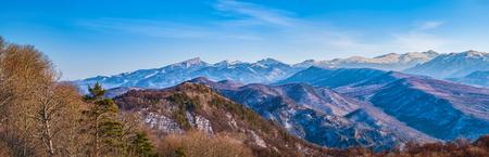 Winter mountain panorama Foto de archivo