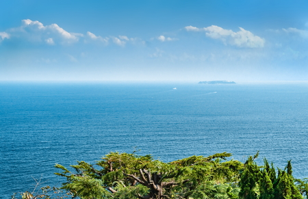 Sagami bay seen from Atami castle, Shizuoka prefecture, Japan Stock Photo