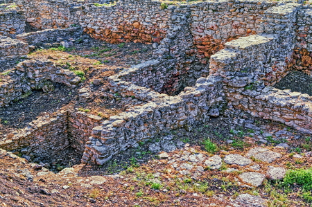 Archeological dig of the city of Tanais founded in the first quarter of the 3rd century by Greek colonists Foto de archivo