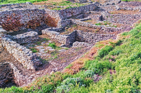 Archeological dig of the city of Tanais founded in the first quarter of the 3rd century by Greek colonists Banco de Imagens