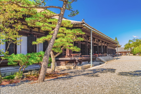 Main Hall of Sanjusangendo Buddhist Temple in Kyoto, Japan