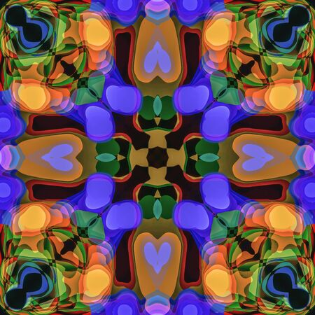 Abstract kaleidoscopic seamless colorful pattern background texture Banco de Imagens