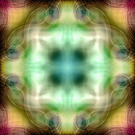 Textura de fondo de patrón de colores transparente caleidoscópico abstracto