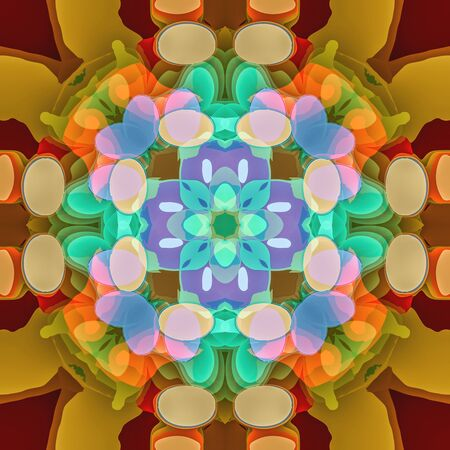 Abstract kaleidoscopic seamless colorful pattern background texture. Computer generated