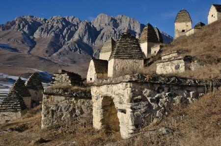 necropolis: City of the dead: a necropolis near the village of Dargavs, North Ossetia - Alania, Russia