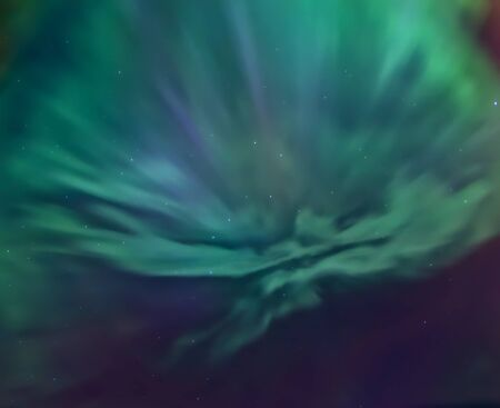 ursa minor: Aurora borealis above the head caused by the strongest geomagnetic storm March 17-18, 2015, St. Petersburg, Russia