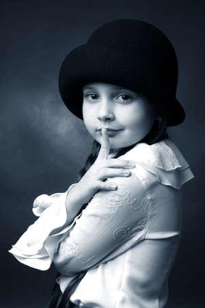 retro lady Stock Photo