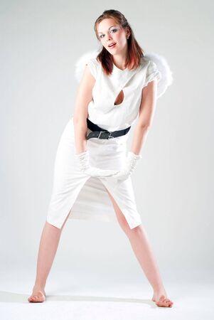 girl in white photo
