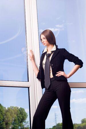 Ein junger gute Geschäftsfrau suchen in Gläsern Poträt  Standard-Bild - 3397257