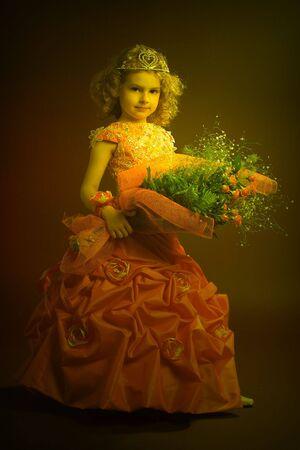 Pretty little princess portrait. White balance corrected