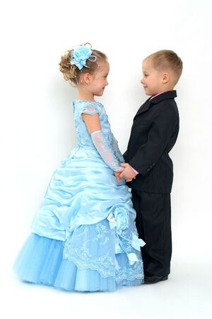 Little romantic couple Stock Photo