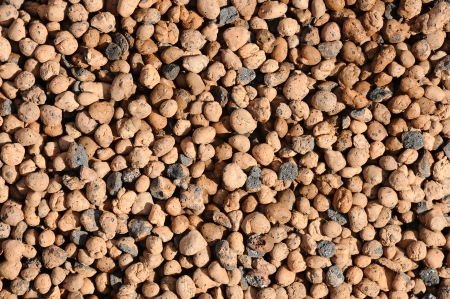 on aggregate: Expanded clay aggregate pattern  Stock Photo